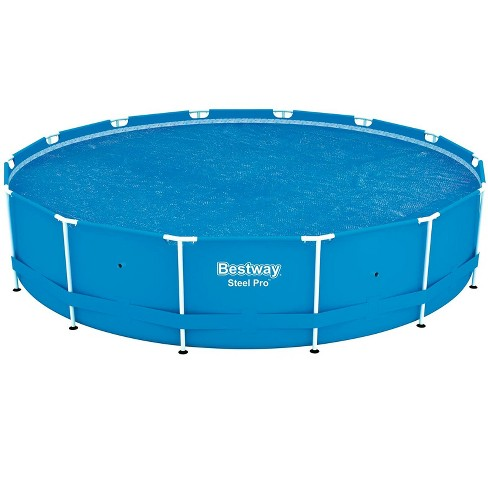 Bestway 14\' Round Floating Above Ground Swimming Pool Solar Heat ...
