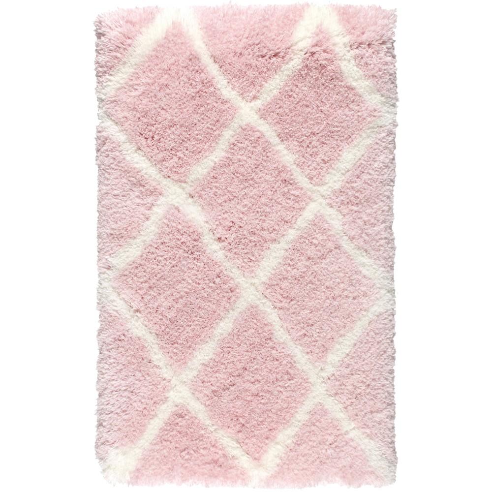 Image of Nicole Miller Casey Kallik 2'x3' Kids Shag Accent Rug Pink - Home Dynamix