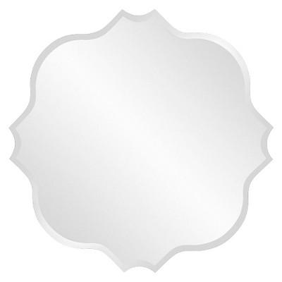 Round Scalloped Frameless Decorative Wall Mirror - Howard Elliott