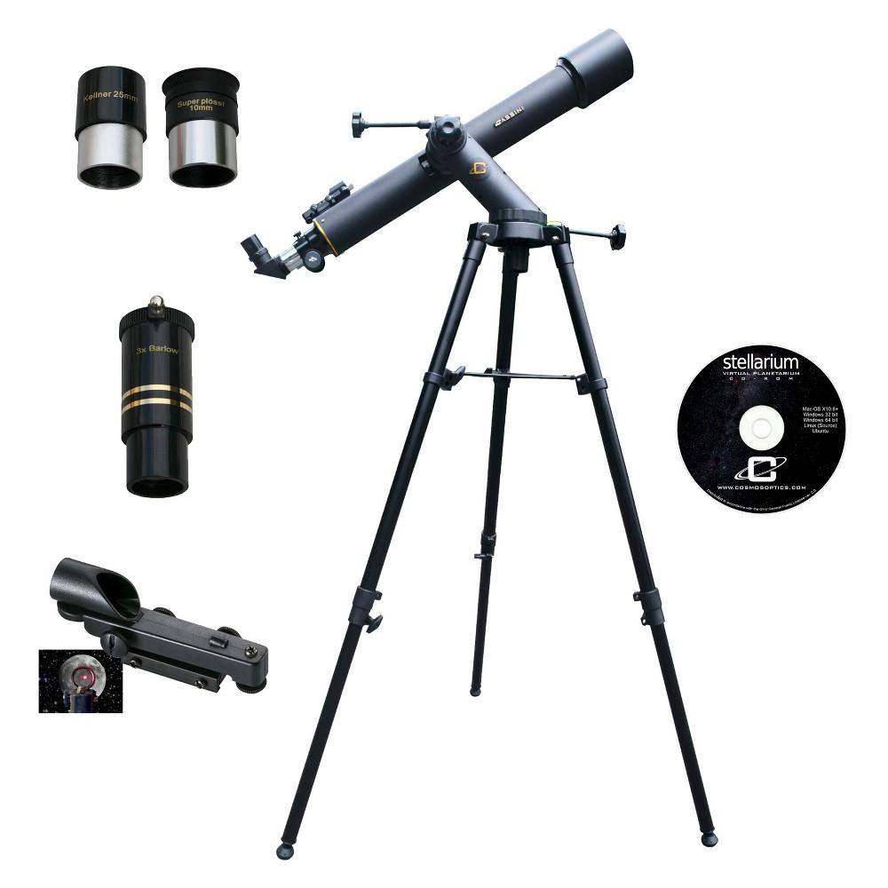 Cassini 800mm x 72mm Tracker Astronomical and Terrestrial/Land Telescope Kit - Black