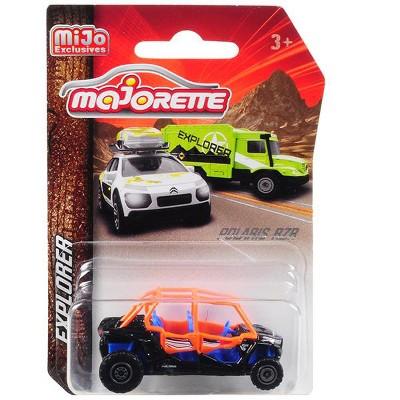 "Polaris RZR ATV Black/Orange/Blue ""Explorer"" 1/61 Diecast Model by Majorette"
