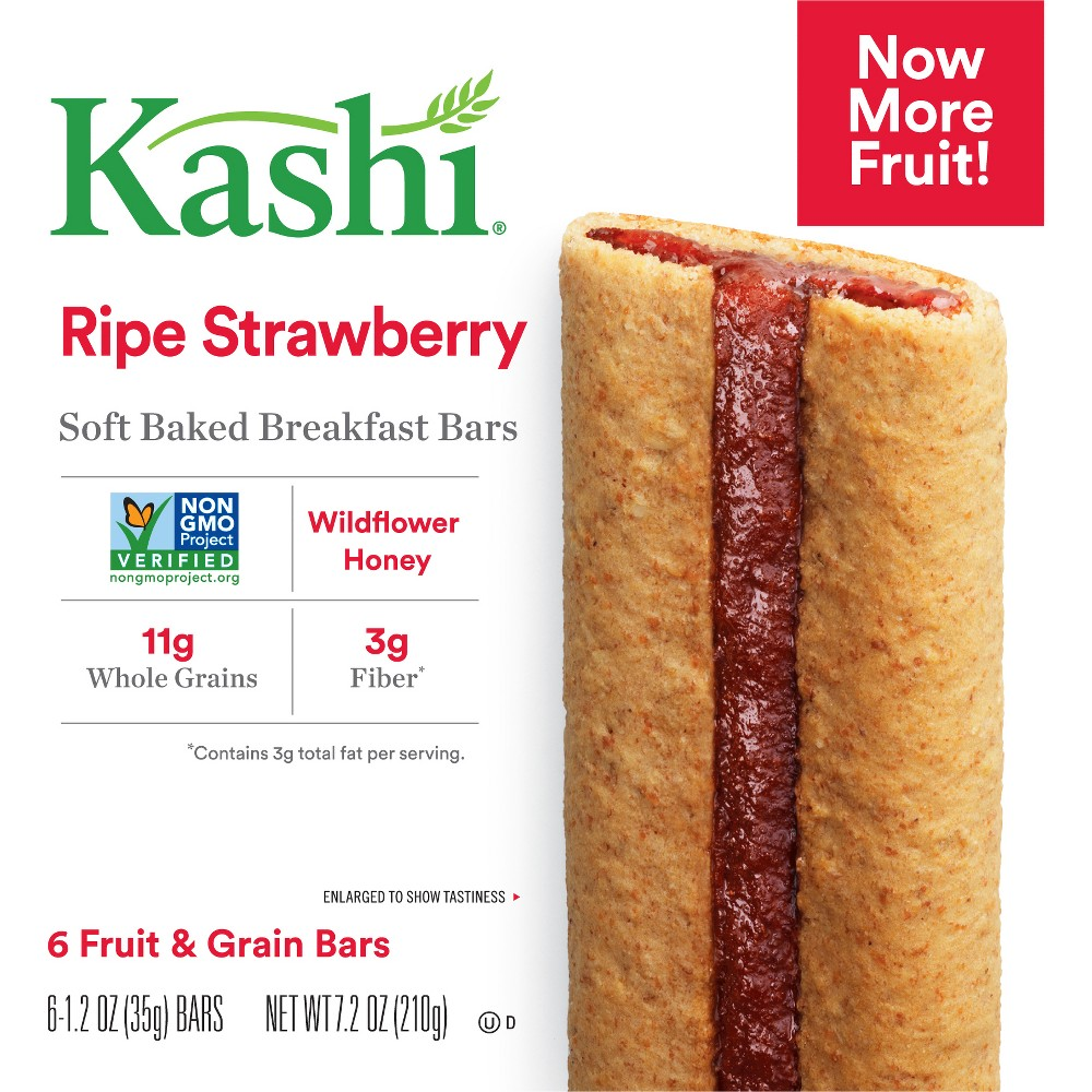 Kashi Ripe Strawberry Soft Baked Cereal Bars - 6ct
