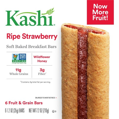Kashi Ripe Strawberry Soft Baked Cereal Bars - 6ct - image 1 of 6