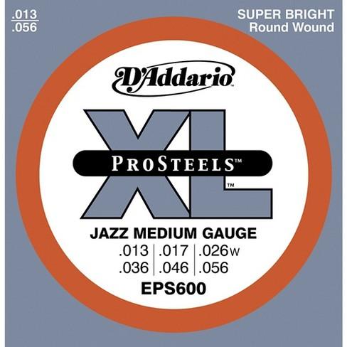 D'Addario EPS600 ProSteels Jazz Medium Electric Guitar Strings - image 1 of 1