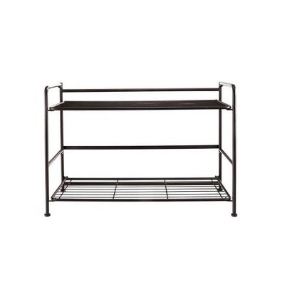 FlipShelf Wide 2 Shelf Black