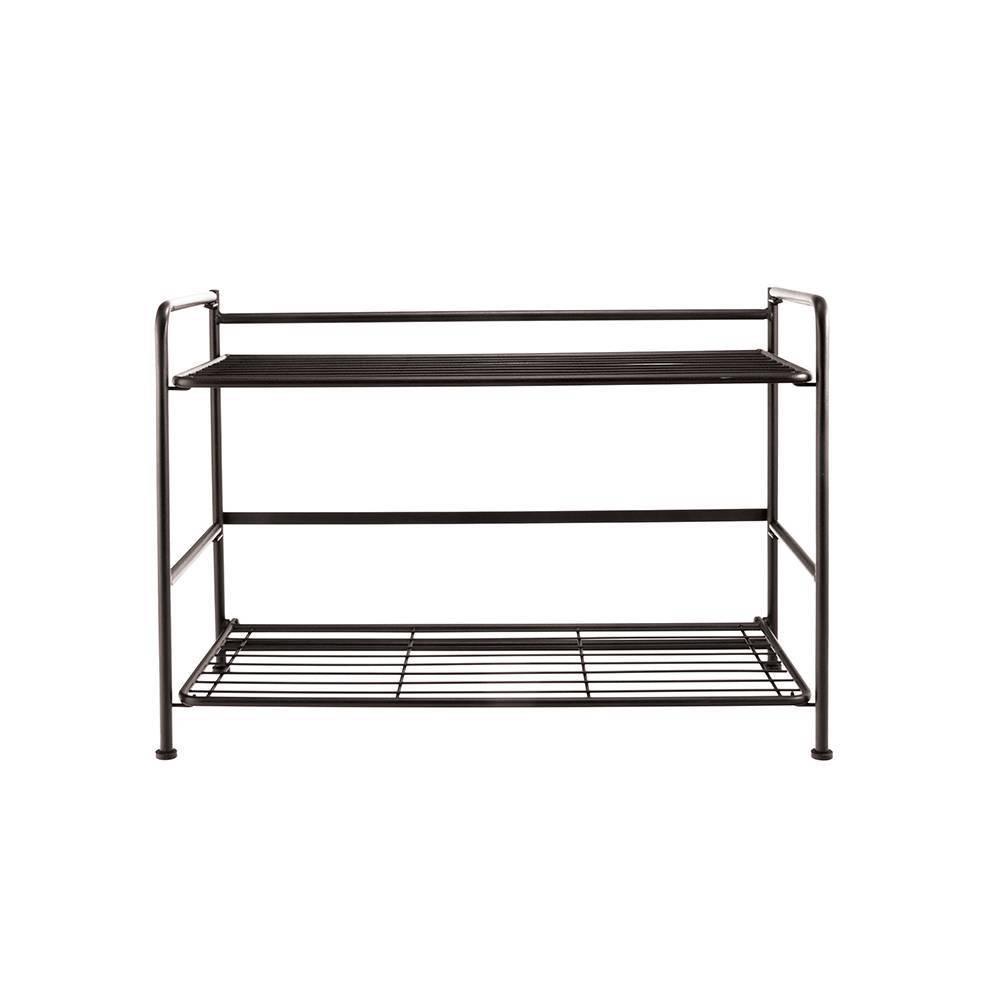 Image of Wide 2 Shelf Black - FlipShelf