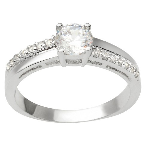 3 1/2 CT T.W. Round Cut Cubic Zirconia Basket Set Bridal Style Ring in Sterling Silver (6) - image 1 of 4