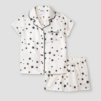 Girls' Satin Coat Pajama Set - art class™ Teal