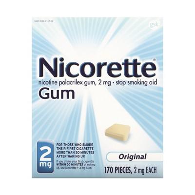 Nicorette 2mg Stop Smoking Aid Gum - Original - 170ct