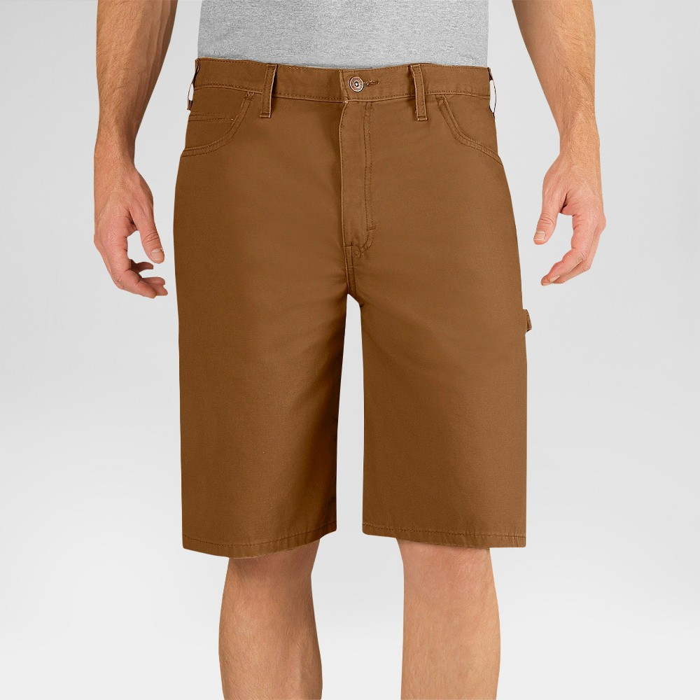 Dickies Men's Relaxed Fit Lightweight Canvas 11 Carpenter Shorts- Brown Duck 40