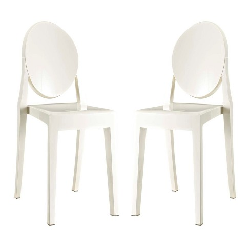 Casper Dining Chairs Set of 2 White - Modway - image 1 of 5