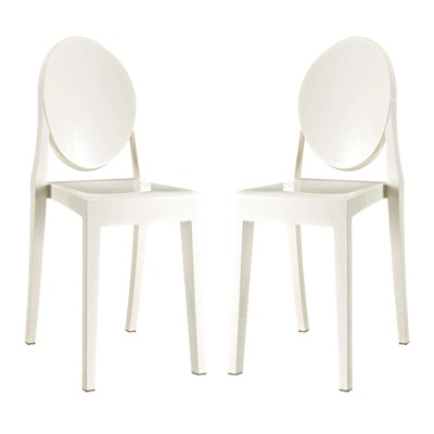 Etonnant Casper Dining Chairs Set Of 2 White   Modway