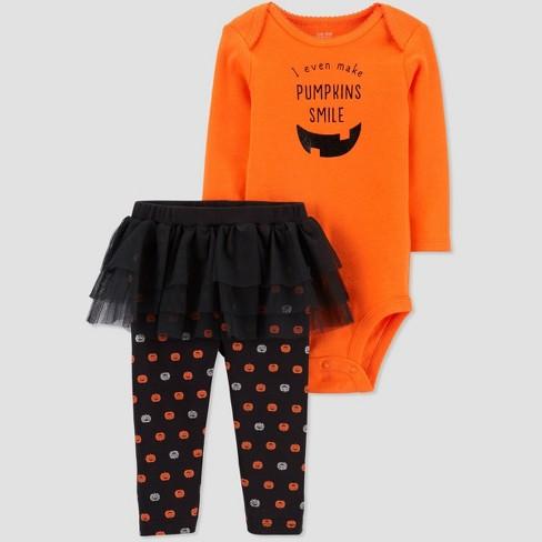 Baby Girls' Halloween Pumpkin Tutu Sleep N' Play - Just One You® made by carter's - image 1 of 1