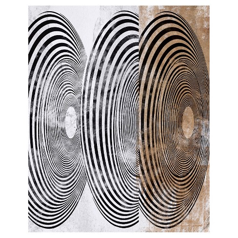 Hypnotic Abstractions Spinning Unframed Wall Canvas Art - (24X30) - image 1 of 1
