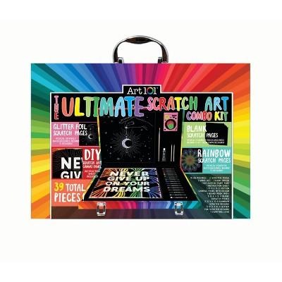 Art 101 41pc Ultimate Scratch Art Combo Kit