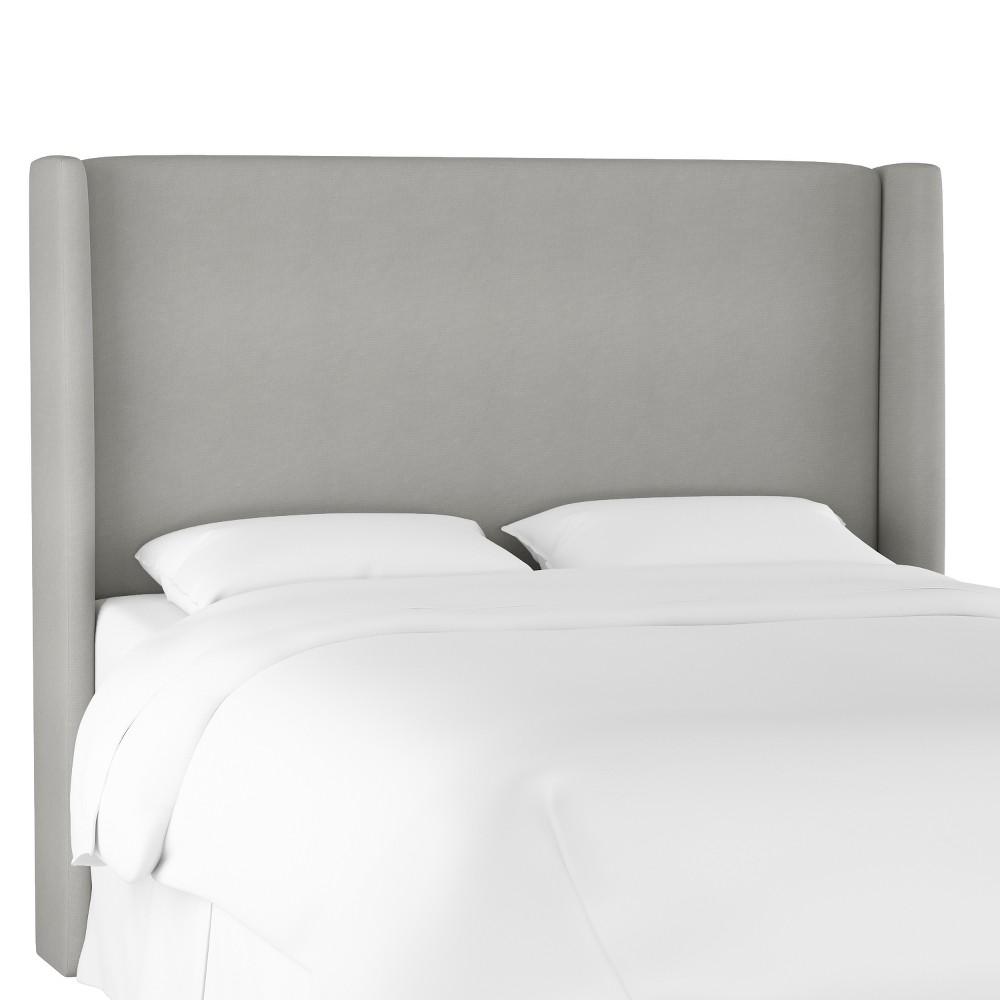 Full Antwerp Wingback Headboard Medium Gray Velvet - Project 62