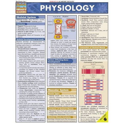 Physiology - (Quickstudy: Academic) by W Randy Brooks (Poster)
