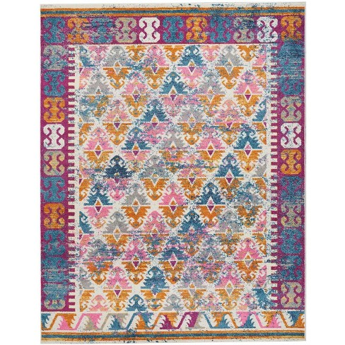 Passion PSN12 Ivory Area Rug Moroccan Transitional Bordered By Nourison - image 1 of 4
