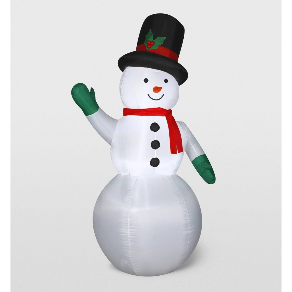 Image of Gemmy Snowman Inflatable Holiday Decoration