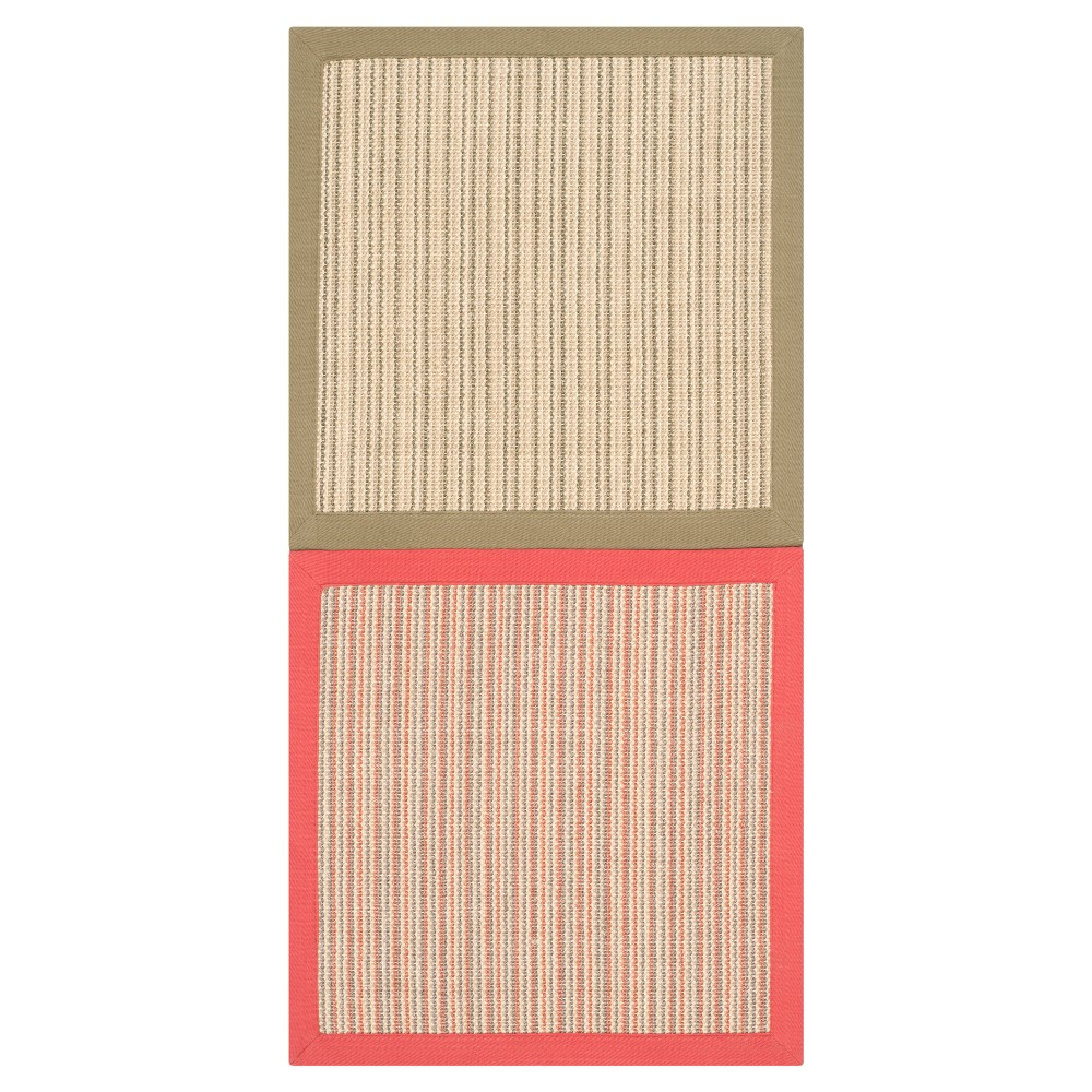 Mimi Natural Fiber Accent Rug - Green / Rust (2' X 4') - Safavieh, Green/Red