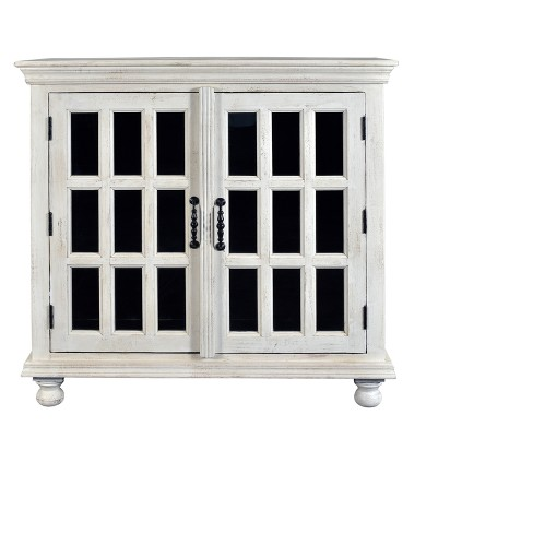 Kendra Two Door Cabinet - White Wash  - Christopher Knight Home - image 1 of 4