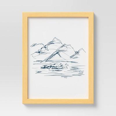 "10"" x 13"" Mountains by Morgan Harper Nichols Framed Wall Canvas"