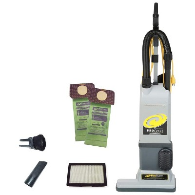 ProTeam ProForce 1500XP 3.25 Quart Multifunctional Upright Vacuum Cleaner with On Board Tools and 50 Foot Extension Cord