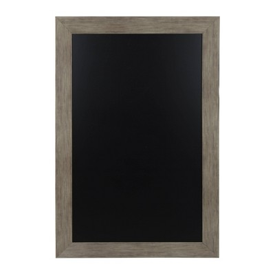 "45"" x 29"" Beatrice Wide Framed Magnetic Chalkboard Rustic Brown - DesignOvation"