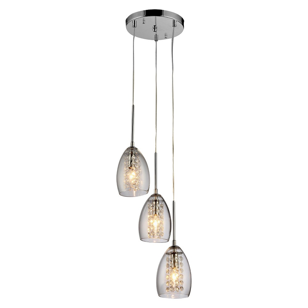 Warehouse Of Tiffany 11 X 11 X 21 Inch Light Silver Ceiling Lights
