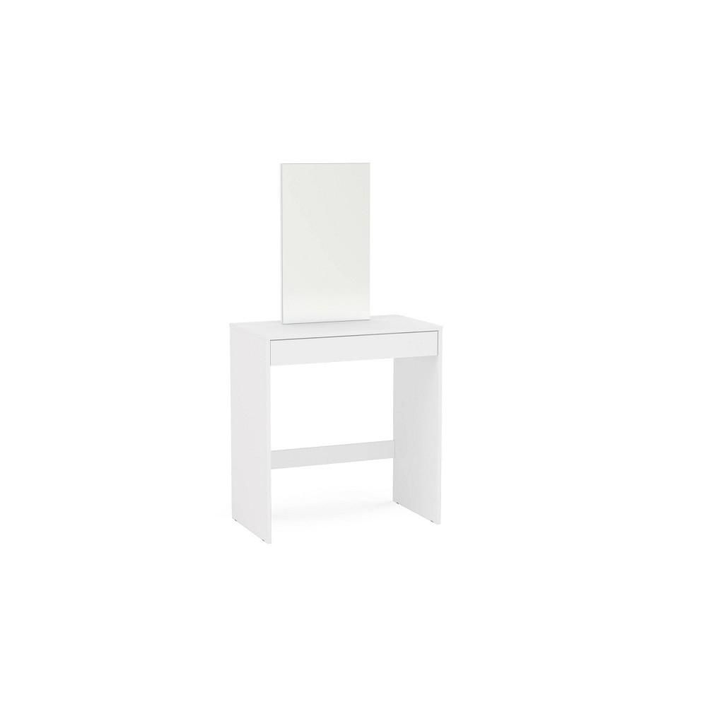 Image of Miami Vanity w/Mirror White - Chique