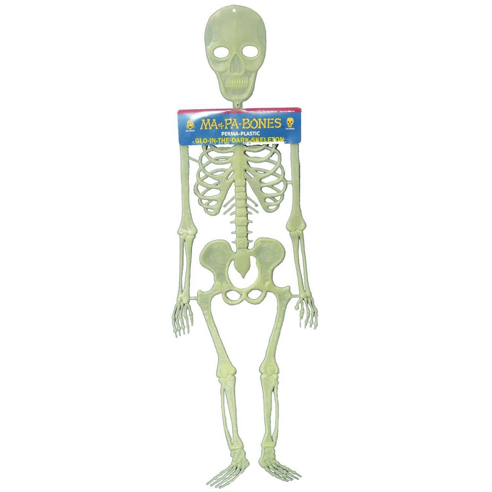 "Image of ""20"""" Halloween Pa Bones Glow In The Dark Skeleton"""