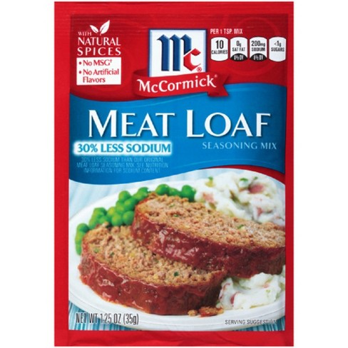 McCormick Meat Loaf Seasoning Mix 30% Less Sodium 1.25 oz - image 1 of 2