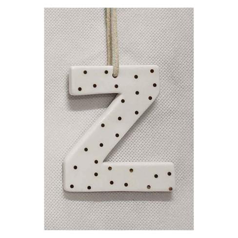 Christmas Monogram Ceramic Topper Letters Ornaments Z - sugar paper™ - image 1 of 1