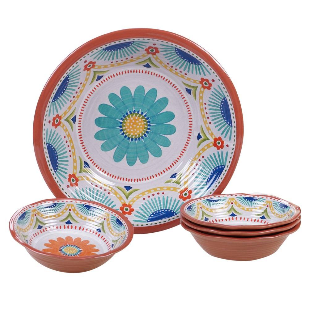 Image of Vera Cruz 5pc Melamine Salad Serving Set - Certified International