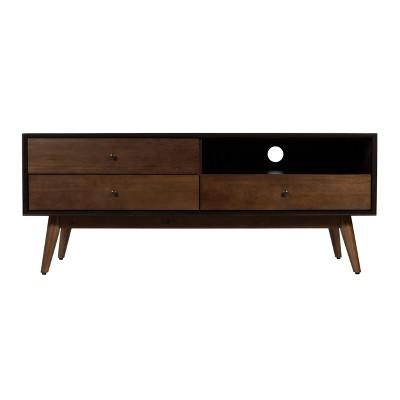Brookline 3 Drawer TV Stand Walnut - Adore Decor
