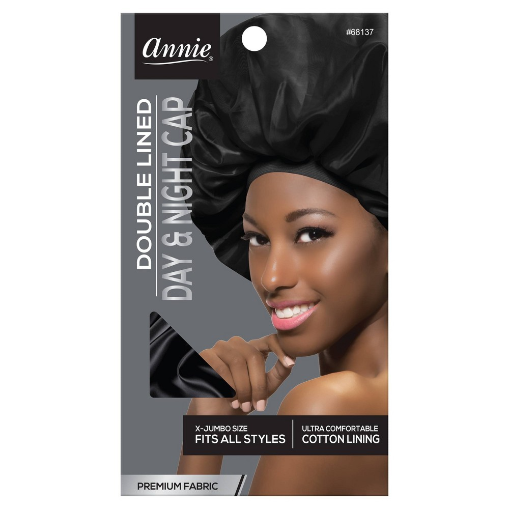 Image of Annie Deluxe Jumbo Day and Night Black Cap