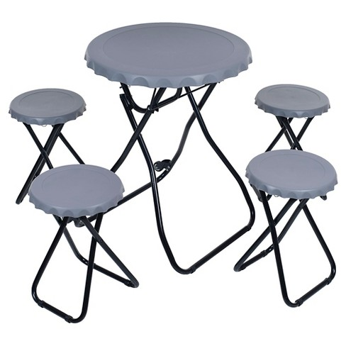 Trademark Global 5 Piece Portable Picnic Table Tailgating Set - image 1 of 2