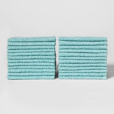 24pk Washcloth Set Caribbean Aqua - Room Essentials™