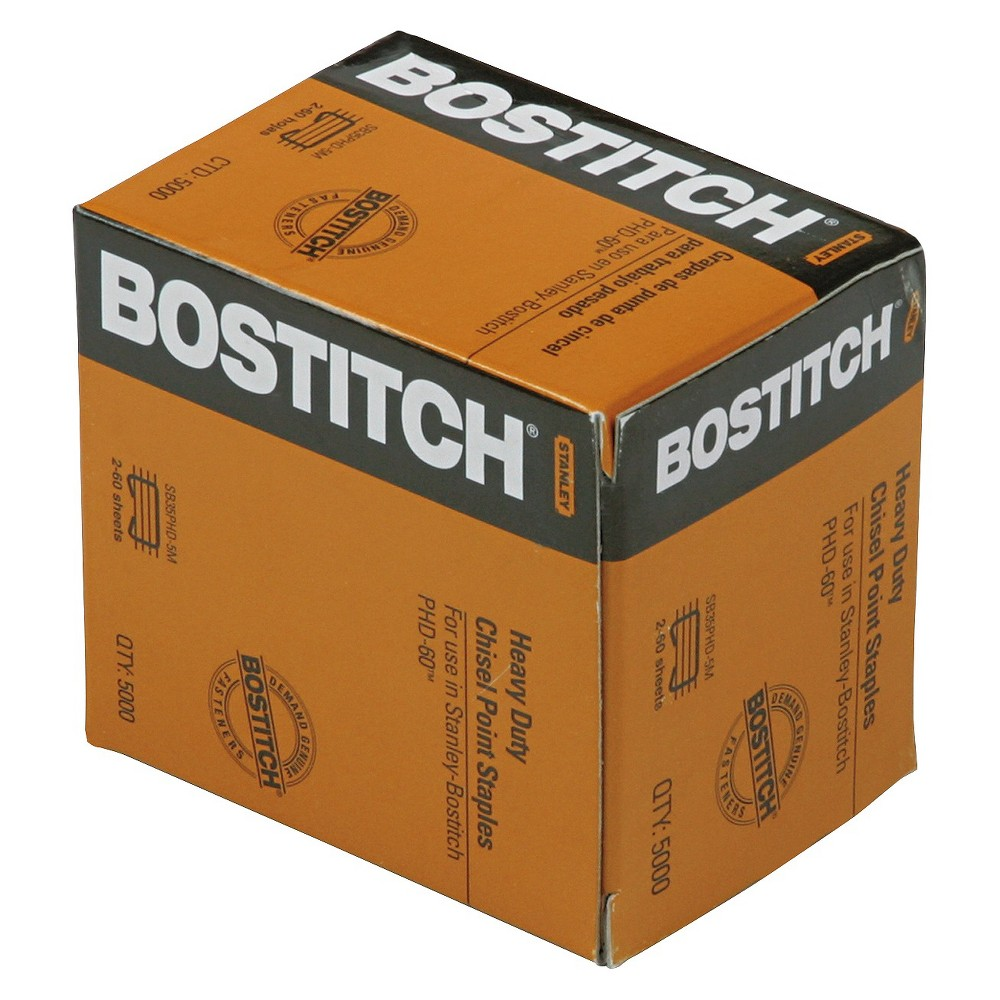 Image of Stanley Bostitch Personal Heavy-Duty Staples, 5,000/Box