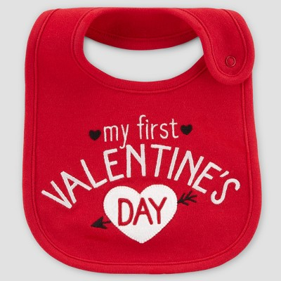 Baby My First Valentines Day Bib - Just One You® made by carter's Red One Size