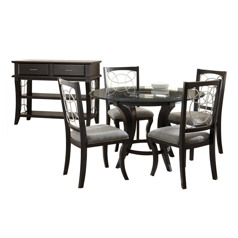 6Pc Cynthia Dining Set Black - Steve Silver