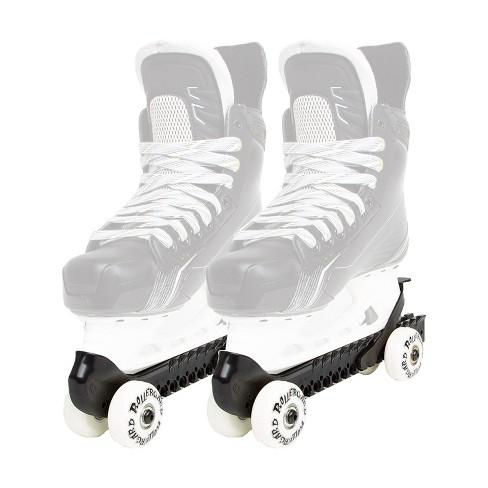 Rollergard 44374-B Adjustable Strap Kids Ice Skate Blade Guard & Roller Skate, Black (Pair) - image 1 of 3