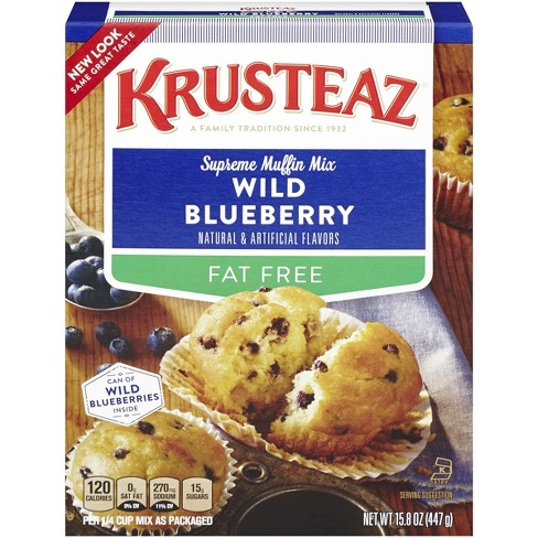 Krusteaz Fat Free Wild Blueberry Supreme Muffin Mix 17.5 oz - image 1 of 3
