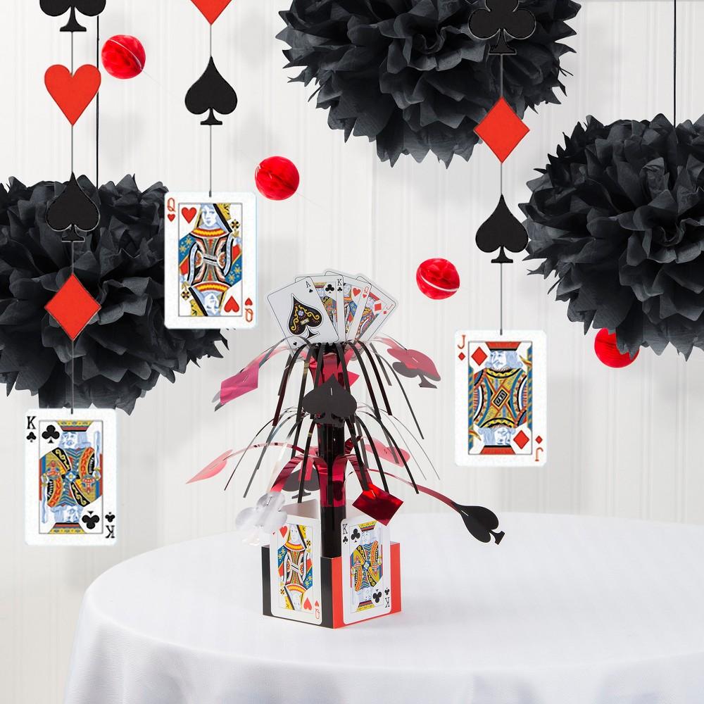 Low Price Card Night Decorations Party Kit RedWhiteBlack