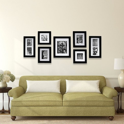 Gallery Perfect 7 Piece Wall Frame Set - Black : Target
