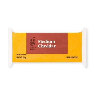 Medium Cheddar Cheese - 8oz - Good & Gather™