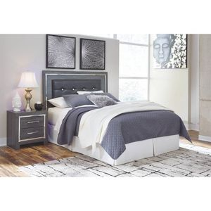 Queen Full Lodanna Upholstered Panel Headboard Gray Signature Design By Ashley Target