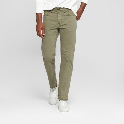 Men's Regular Slim Straight Fit Chino Pants - Goodfellow & Co™ Khaki 36x32