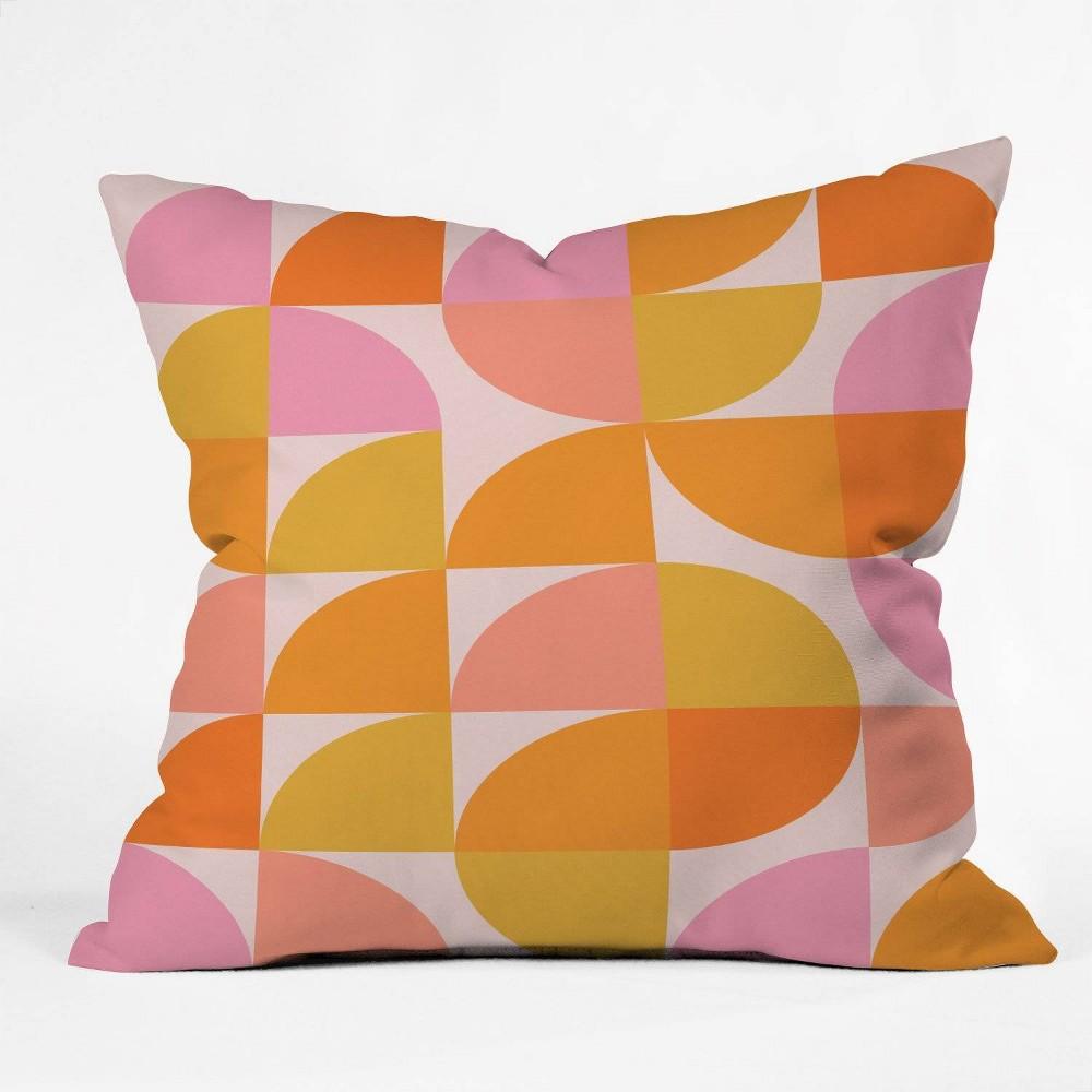 16 34 X16 34 June Journal Mid Century Modern Geometry Throw Pillow Orange Deny Designs