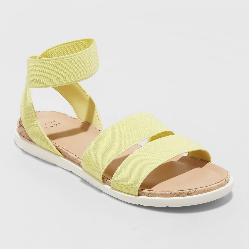 Women 39 S Esme Elastic Ankle Strap Sandals A New Day 8482 Yellow 9 5
